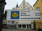 Jakobsweg Schild in Bad Waldsee